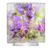 Wild Flowers In The Fall Watercolor Shower Curtain by Michael Colgate