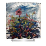 Wild Flowers On An Overcast  Day Shower Curtain