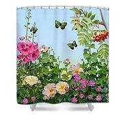 Wild Garden Shower Curtain by Ivana Westin