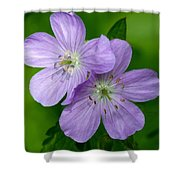 Wild Geranium Shower Curtain