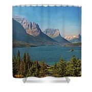 Wild Goose Island - Glacier National Park Shower Curtain