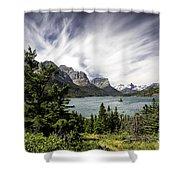 Wild Goose Island Glacier Park 2 Shower Curtain