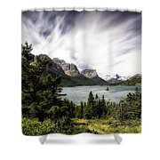 Wild Goose Island Glacier Park 4 Shower Curtain