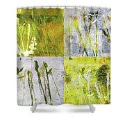Wild Grass Collage 2 Shower Curtain