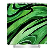 Wild Green Shower Curtain