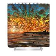 Wild Hearted Sun - Santa Cruz Shower Curtain