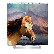 Wild Horse - Painting Shower Curtain