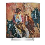 Wild Horse Stampede Shower Curtain