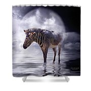 Wild In The Moonlight Shower Curtain