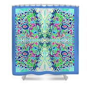 Wild Island Creation 1 Fractal B Shower Curtain