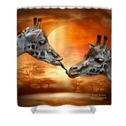 Wild Kisses Shower Curtain