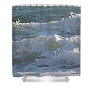 Wild Mediterranean Waves Shower Curtain