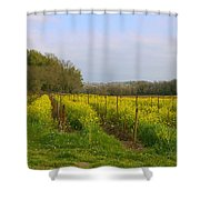 Wild Mustard Fields Shower Curtain