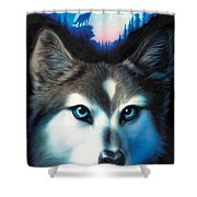 Wild One Shower Curtain by Andrew Farley