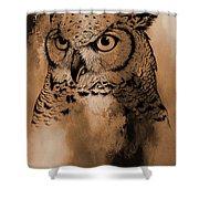 Wild Owl Eyes Shower Curtain