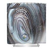 Wild Pearl Birthday Card Shower Curtain