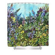 Wild Prairie Lupine Shower Curtain