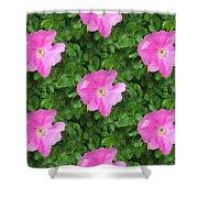 Wild Rose Pattern Shower Curtain