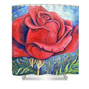 Wild Rose Two Shower Curtain