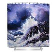 Wild Sea Shower Curtain