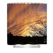 Wild Sky Of Autumn Shower Curtain
