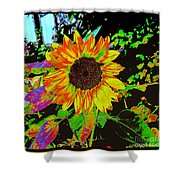 Wild Sunflower Shower Curtain