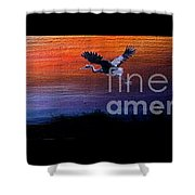 Wild Sunset Shower Curtain