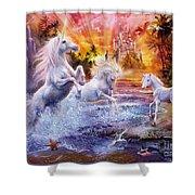 Wild Unicorns Shower Curtain