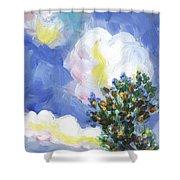 Wild Vineyard Quadriptych Part One Shower Curtain