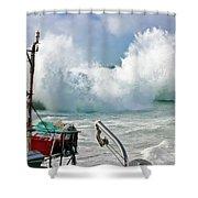 Wild Waves In Cornwall Shower Curtain