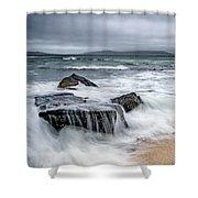 Wild Weather At Geodha Mhartainn On The Isle Of Harris Shower Curtain
