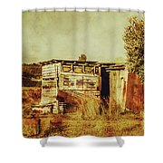 Wild West Australian Barn Shower Curtain