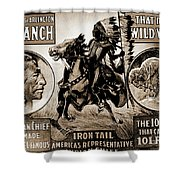 Wild West Poster Shower Curtain