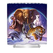 Wild World Shower Curtain by Jerry LoFaro