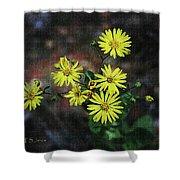 Wild Yellow Flowers Shower Curtain