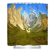 Wild Yosemite - Abstract Modern Art Shower Curtain
