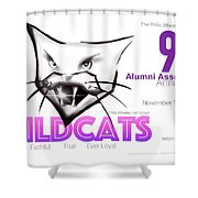 Wildcat 90th Anniversary Test Card Shower Curtain