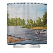 Wilde Wateren  Shower Curtain