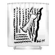Wildebeest Shower Curtain