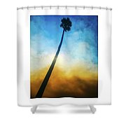 Wildfire Palm Shower Curtain
