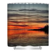 Wildfire Smoke Shower Curtain