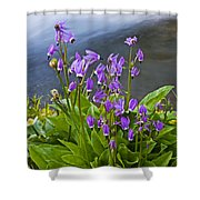 Wildflower Cascade Shower Curtain by Mike  Dawson