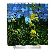 Wildflower Field Shower Curtain
