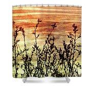 Wildflower Sunrise Shower Curtain
