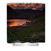 Wildflower Sunset At Summit Lake Shower Curtain