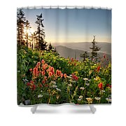 Evening Kisses Shower Curtain