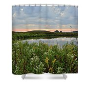 Wildflowers Along Nippersink Creek In Hackmatack Nwr Shower Curtain