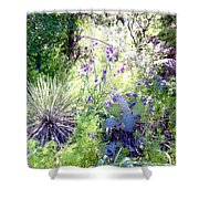 Wildflowers And Cactuses Shower Curtain