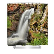 Wildflowers At Moose Falls Shower Curtain
