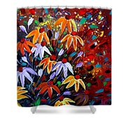 Wildflowers At Sunset Shower Curtain